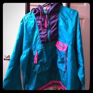 Columbia vintage 90s neon jacket pullover